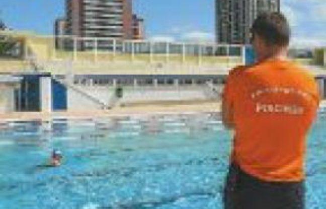 Damien Barral, maître nageur.