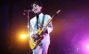 Le chanteur Prince en concert au Grand Palais à Paris, le 11 octobre 2009.