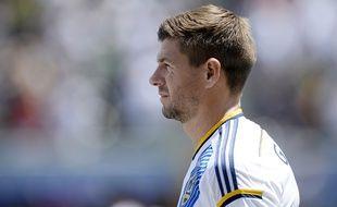 L'Anglais Steven gerrard sous le maillot des Los Angeles Galaxy en août 2015.