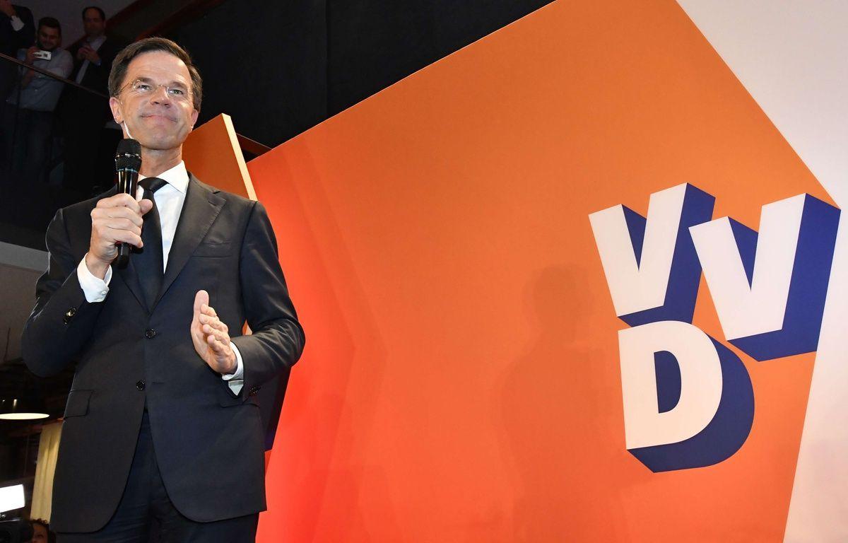 Le Premier ministre néerlandais Mark Rutte, le 15 mars 2017. – Patrick Post/AP/SIPA
