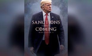 Donald Trump a annoncé la date d'entrée en vigueur des sanctions contre l'Iran en détournant «Game of Thrones» sur Twitter.