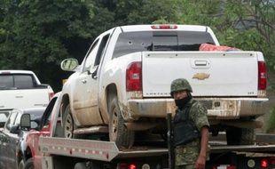 Un soldat mexicain à Tlatlaya, au Mexique, après une opération de police, le 30 juin 2014