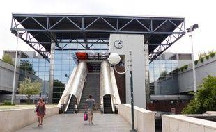 Lyon, le 8 juin 2016. Le centre d'échanges et la gare de Perrache, vus depuis la place Carnot à Lyon, vont faire l'objet d'un vaste réaménagement d'ici à 2019