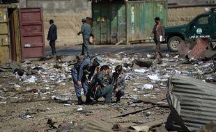 Kaboul, le 1er août 2016, après un attentat des talibans afghans.