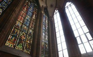 Les vitraux de la chapelle Sainte Catherine.