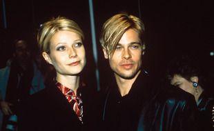 Les acteurs Gwyneth Paltrow et Brad Pitt en 1997 à l'avant-première du film «Ennemis rapprochés»