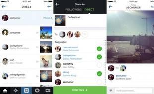 Instagram Direct a été lancé le 12 décembre 2013.