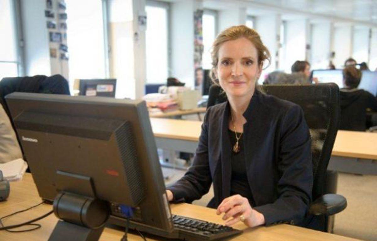 Nathalie Kosciusko-Morizet, à la rédaction de 20 Minutes, avril 2012 – A.Gelebart // 20 Minutes
