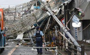 Les dégâts sont importants au Japon après le passage du typhon Jebi.