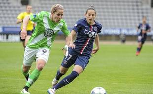 Aurélie Kaci a grandement participé à la longue aventure du PSG en Ligue des champions, comme ici face à Wolfsburg en demi-finales. Alain Coudert/Sportsvisio
