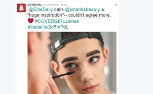 James Charles, un maquilleur new yorkais de 17 ans, est devenu la première égérie masculine d'une marque de maquillage, Cover Girl.