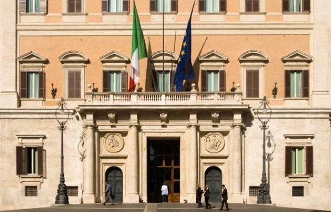 Le palais Montecitorio à Rome, siège du Parlement italien, à Rome (Italie), en 2009.