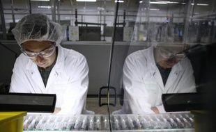 L'usine de Sanofi Pasteur, le 26 novembre 2012 à Val-de-Reuil, dans l'Eure