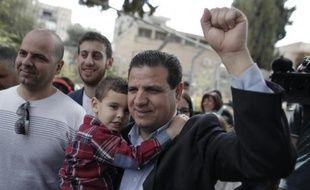 Ayman Odeh, chef de la liste arabe unie, à Haïfa le 17 mars 2015