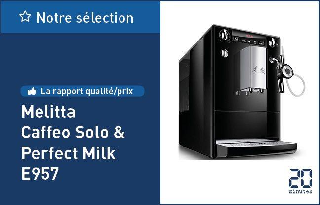 La machine à café automatique Melitta Caffeo Solo & Perfect Milk E957.