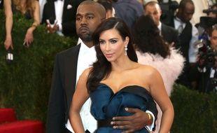 Kim Kardashian et son fiancé Kanye West à la soirée du Met Ball à New York, le 5 mai 2014.