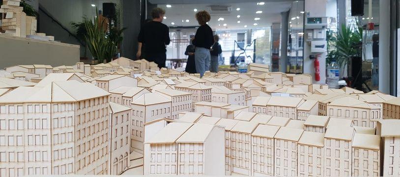 Une maquette du quartier de Noailles réalisée par des étudiants en architecture