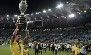 Thiago Silva et Marquinhos, vainqueurs avec le Brésil de la Copa America 2019.