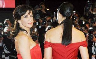 Sophie Marceau et Monica Bellucci, lors du Festival de Cannes.
