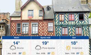 Météo Rennes: Prévisions du mercredi 4 août 2021