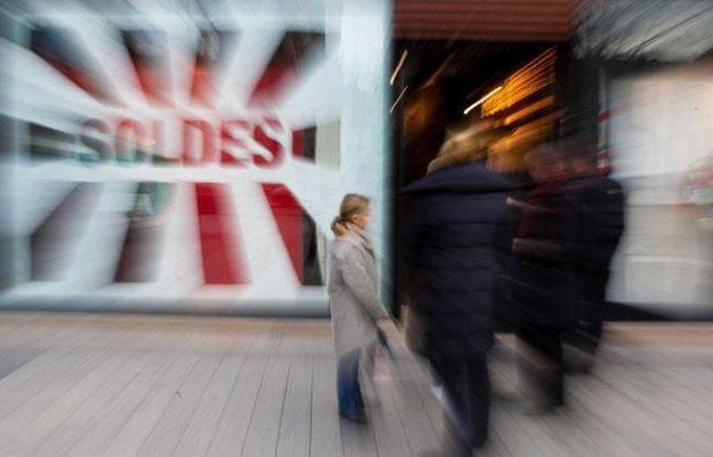 Premier jour des soldes à Paris le 11 janvier 2012.