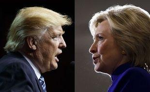 Donald Trump et Hillary Clinton s'affrontent le 26 septembre 2016 pour le premier débat télévisé de la campagne pour la présidentielle américaine 2016.