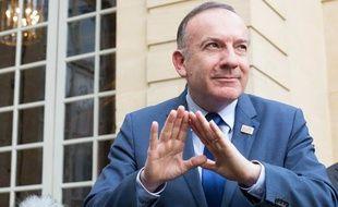 Le patron du Medef Pierre Gattaz à Paris le 27 janvier 2014.