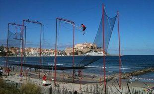 Au festival du vent, à Calvi, en Corse, le 28 octobre 2010.