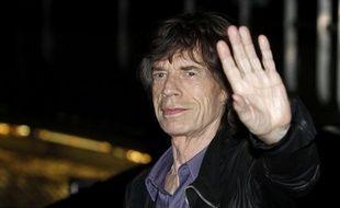 Mick Jagger, le chanteur des Rolling Stones, arrive au Trabendo à Paris le 25 octobre 2012.