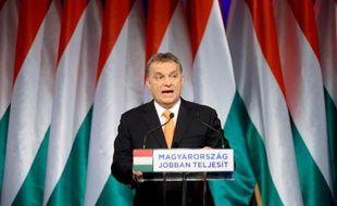 Le Premier ministre et chef du parti conservateur Viktor Orban, le 16 février 2014 à Budapest