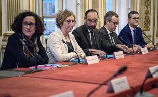 Edouard Philippe a reçu vendredi à Matignon une grande partie des syndicats