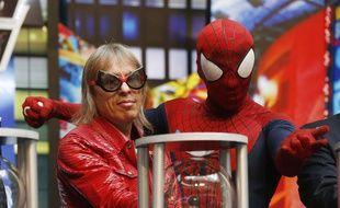 Alain Robert lors d'un événement promotionnel du film «The Amazing Spider-Man 2» le 23 avril 2014 à Macao.