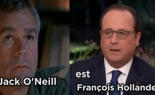 Le président est incarné par Jack O'Neill.