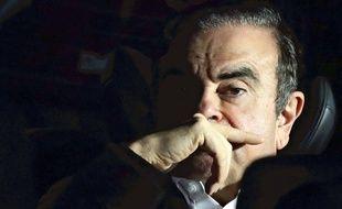 Carlos Ghosn quittant le bureau du procureur, le 6 mars 2019, à Tokyo.