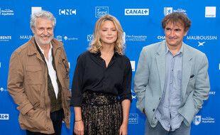 L'équipe du film «Adieu les cons», Nicolas Marie, Virginie Efira et Albert Dupontel.
