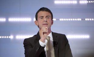 Manuel Valls lors du deuxième débat télévisé des candidats aux primaires socialistes, le 28 septembre 2011.