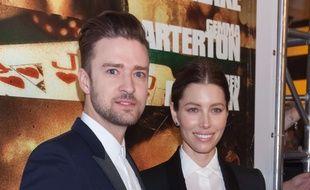 Justin Timberlake et Jessica Biel à Las Vegas en septembre 2013.
