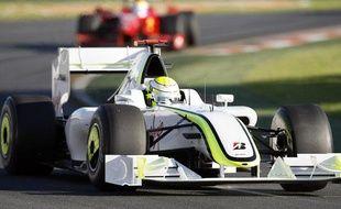 Jenson Button a remporté le Grand Prix d'Australie sur Brawn-Mercedes, le 29 mars 2009 à Melbourne.