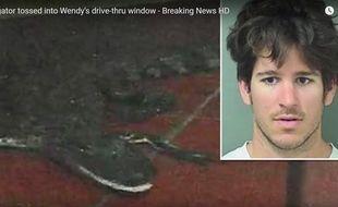 Le jeune homme a été arrêté pour avoir jeté un alligator dans un fast-food, déclenchant une panique générale dans l'établissement.