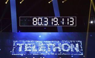 Le compteur final du Téléthon 2016.