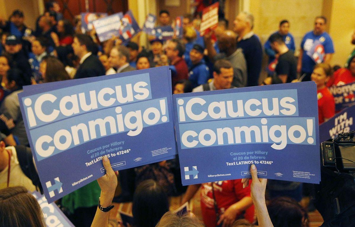 Des supporters d'Hillary Clinton, lors du caucus dans l'état du Nevada, le 20 février 2016. – John Locher/AP/SIPA