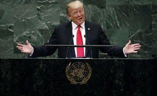 Donald Trump lors de la 73e Assemblée générale de l'ONU, le 25 septembre 2018 à New York.