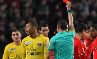 Kylian Mbappé a été exclu lors de la demi-finale de Coupe de la Ligue entre le Stade Rennais et le PSG.