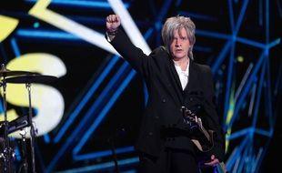 Nicolas Sirkis sur la scène des NRJ Music Awards en 2020