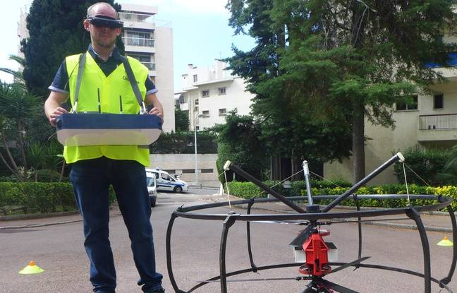 Un premier drone repère les œufs, un second envoie un stérilisateur.