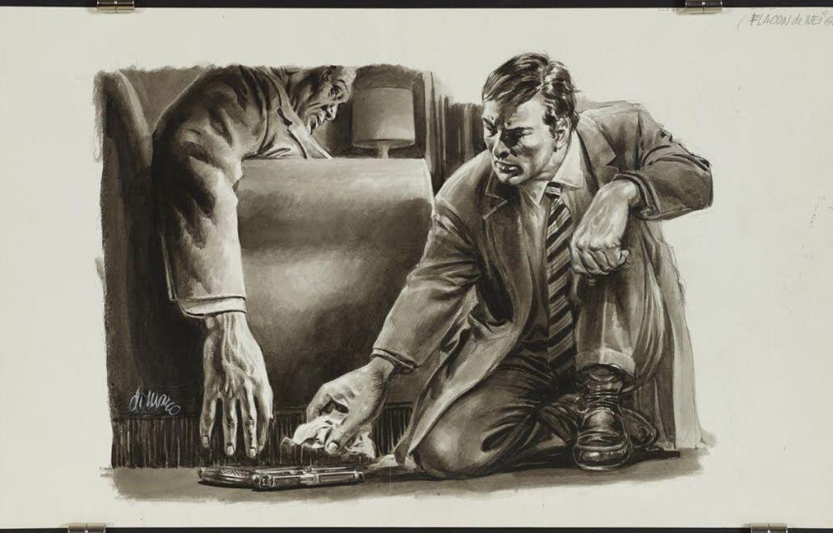 «Flacon de neige», illustration parue dans «Detective». – Angelo DI MARCO