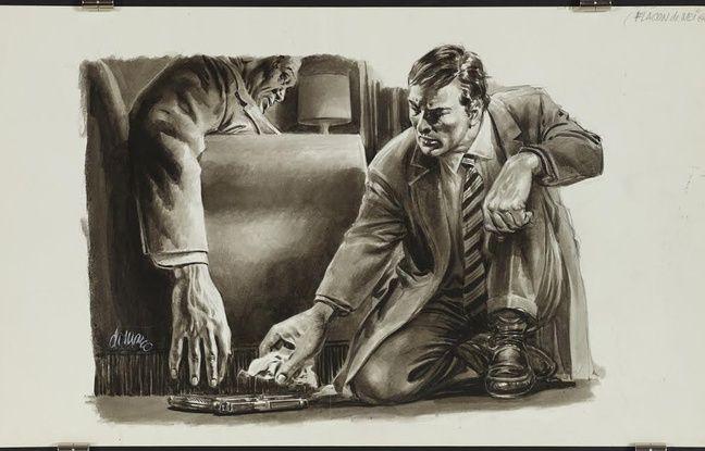 «Flacon de neige», illustration parue dans «Detective».