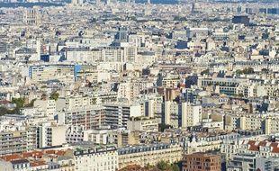 Une vue aérienne de logements à Paris