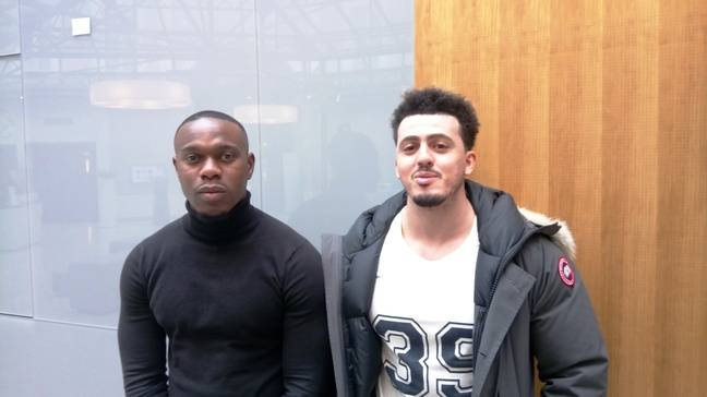 Marc Bohui et Samir Hayani, deux des associés de l'application YesWePlay Football.