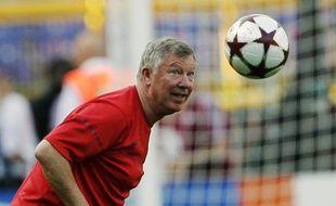 Alex Ferguson à l'entraînement avec Manchester United à Rome, le 26 mai 2009.